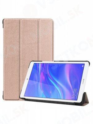 "LEATHER Zaklápací obal Huawei MediaPad M5 Lite 8.0"" ružový"