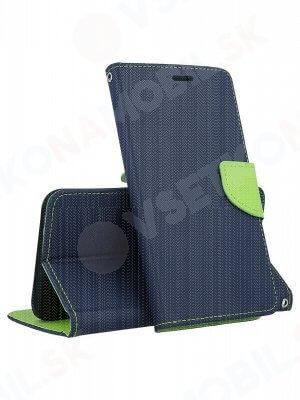 FANCY Peňaženkový obal Huawei Y6 Prime 2018 modrý