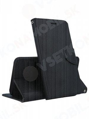 FANCY Peňaženkový obal Huawei Y6 2018 čierny