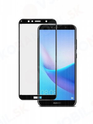 3D Tvrdené sklo Huawei Y6 2018 čierne