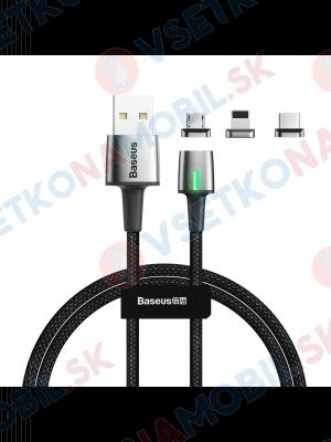 BASEUS ZINC 3v1 Magnetický kábel 1m čierny