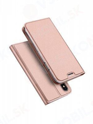 DUX Knižkové púzdro Apple iPhone XS Max ružové
