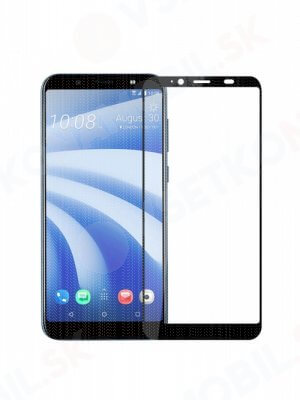 3D Tvrdené sklo HTC U12 Life čierne