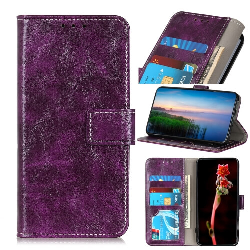 FORCELL RETRO Peňaženkový obal LG K61 fialový