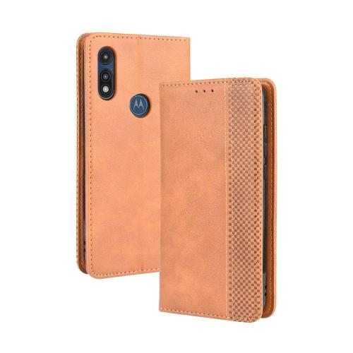 FORCELL BUSINESS Peňaženkový kryt Motorola Moto E (2020) hnedý