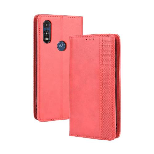 FORCELL BUSINESS Peňaženkový kryt Motorola Moto E (2020) červený