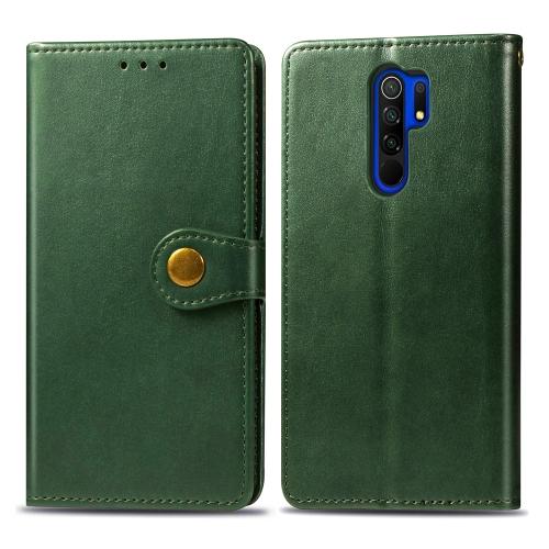 FORCELL LEATHER BUCKLE Peňaženkový obal Xiaomi Redmi 9 zelený