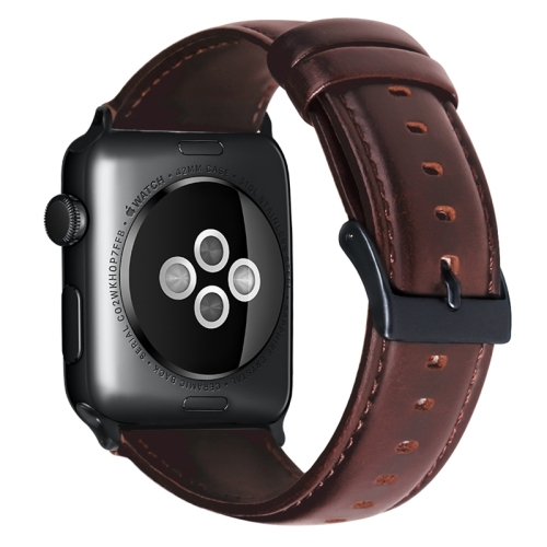 FORCELL WAX Kožený remienok Apple Watch 6 / SE / 5 / 4 (40mm) / 1 / 2 / 3 (38mm) hnedý