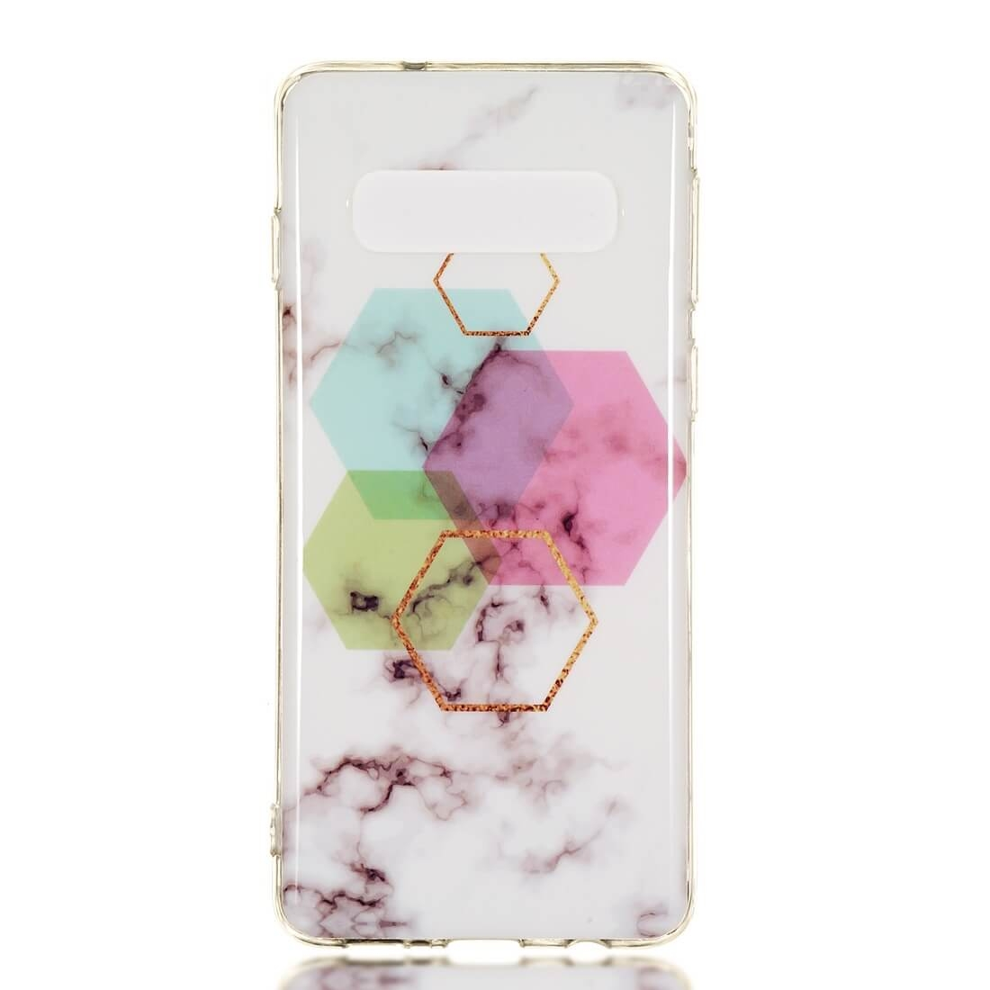 FORCELL MARBLE Ochranný kryt Samsung Galaxy S10 Plus HEXAGON