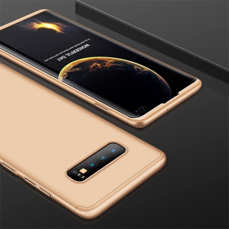 FORCELL 360° Ochranný obal Samsung Galaxy S10 Plus zlatý