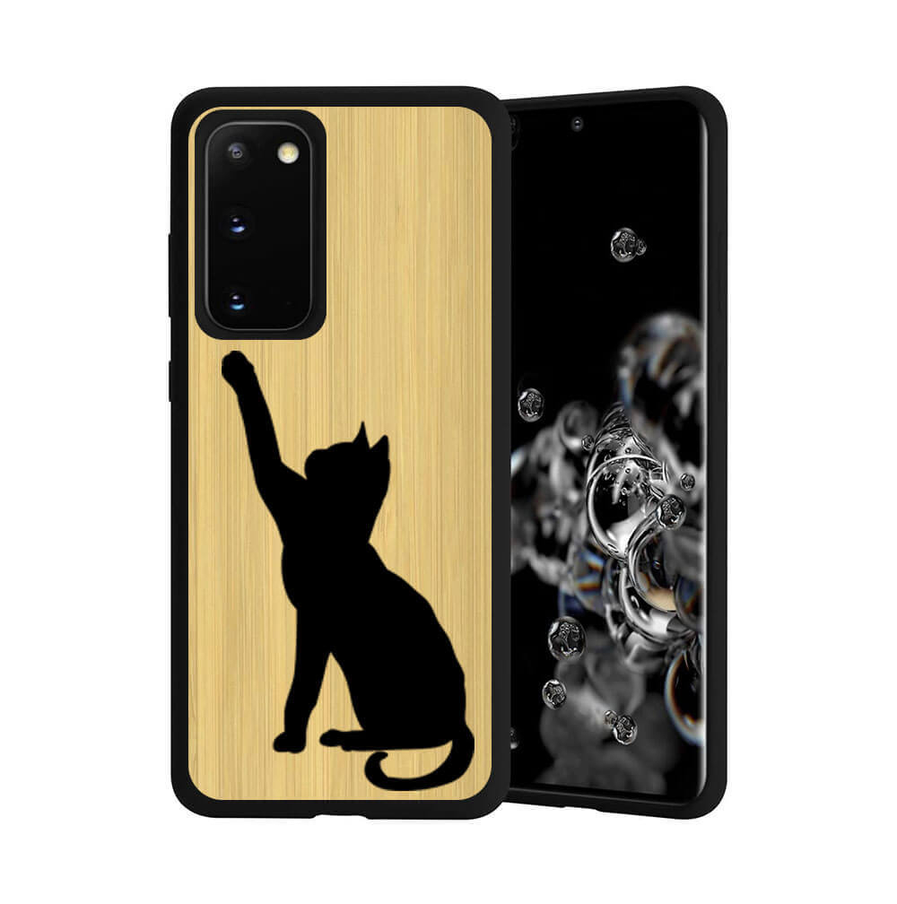 FORCELL BAMBOO Drevený kryt Samsung Galaxy S20 CAT (085)