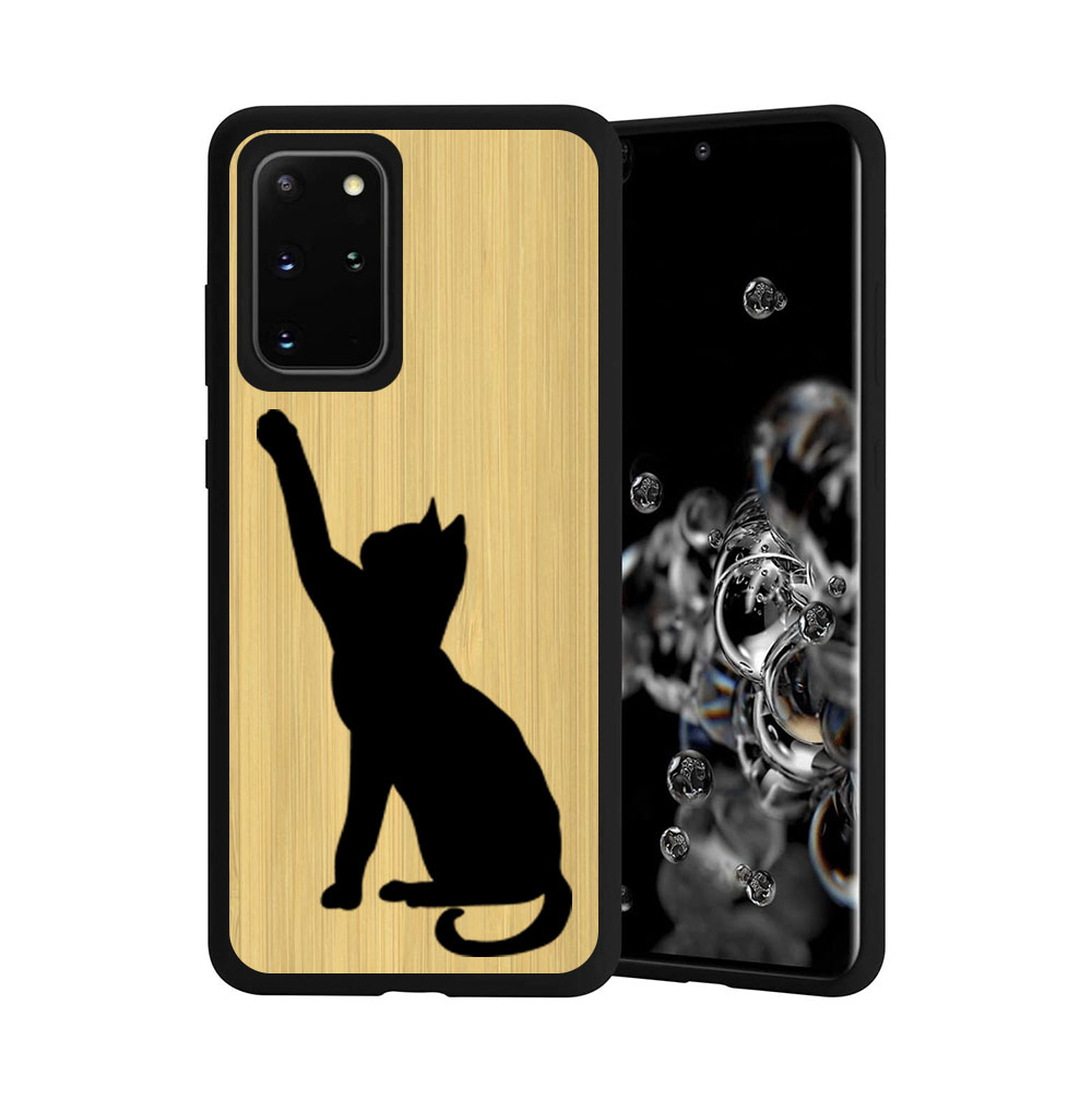 FORCELL BAMBOO Drevený kryt Samsung Galaxy S20 Plus CAT (085)