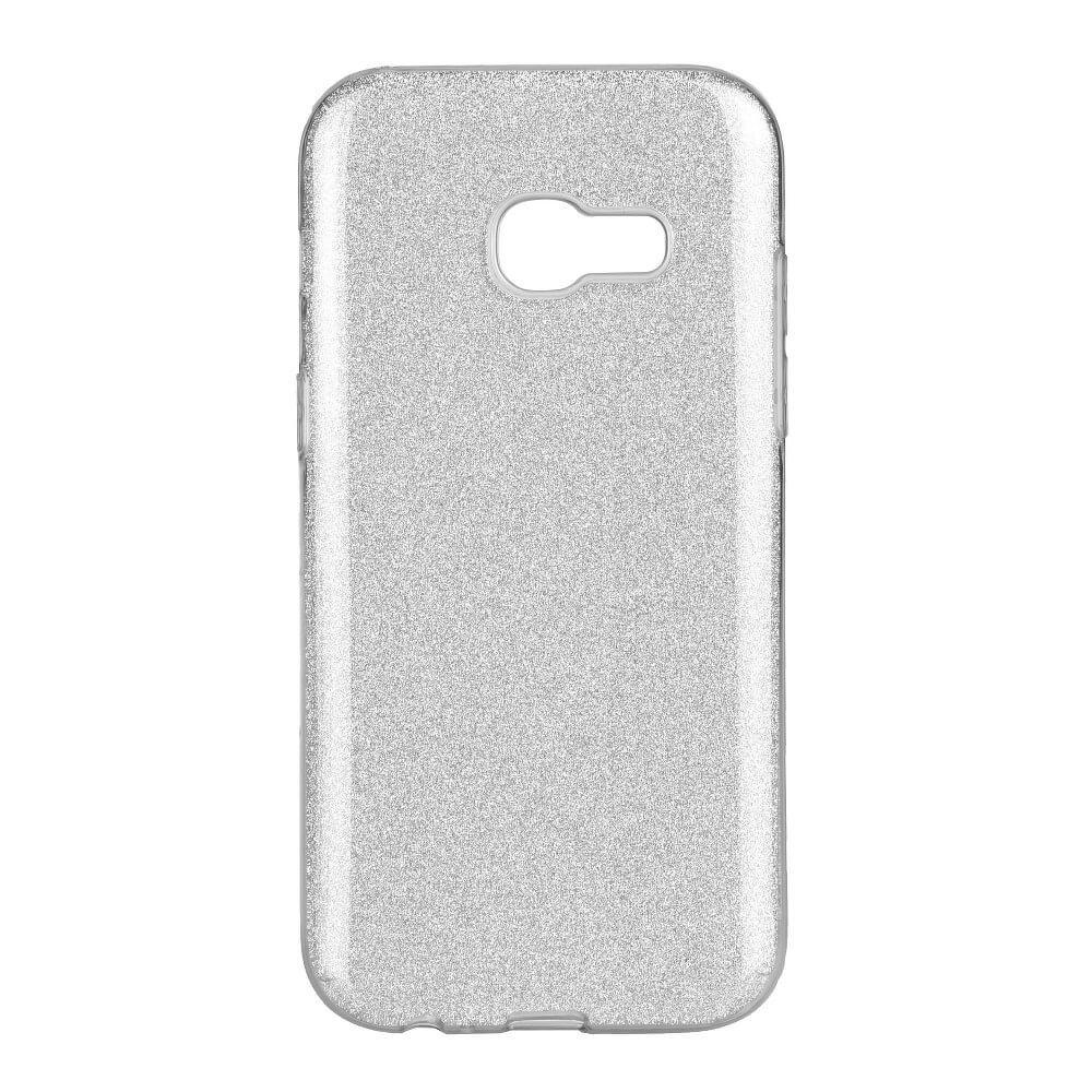 FORCELL SHINING Ochranný obal Samsung Galaxy A3 2017 (A320) strieborný