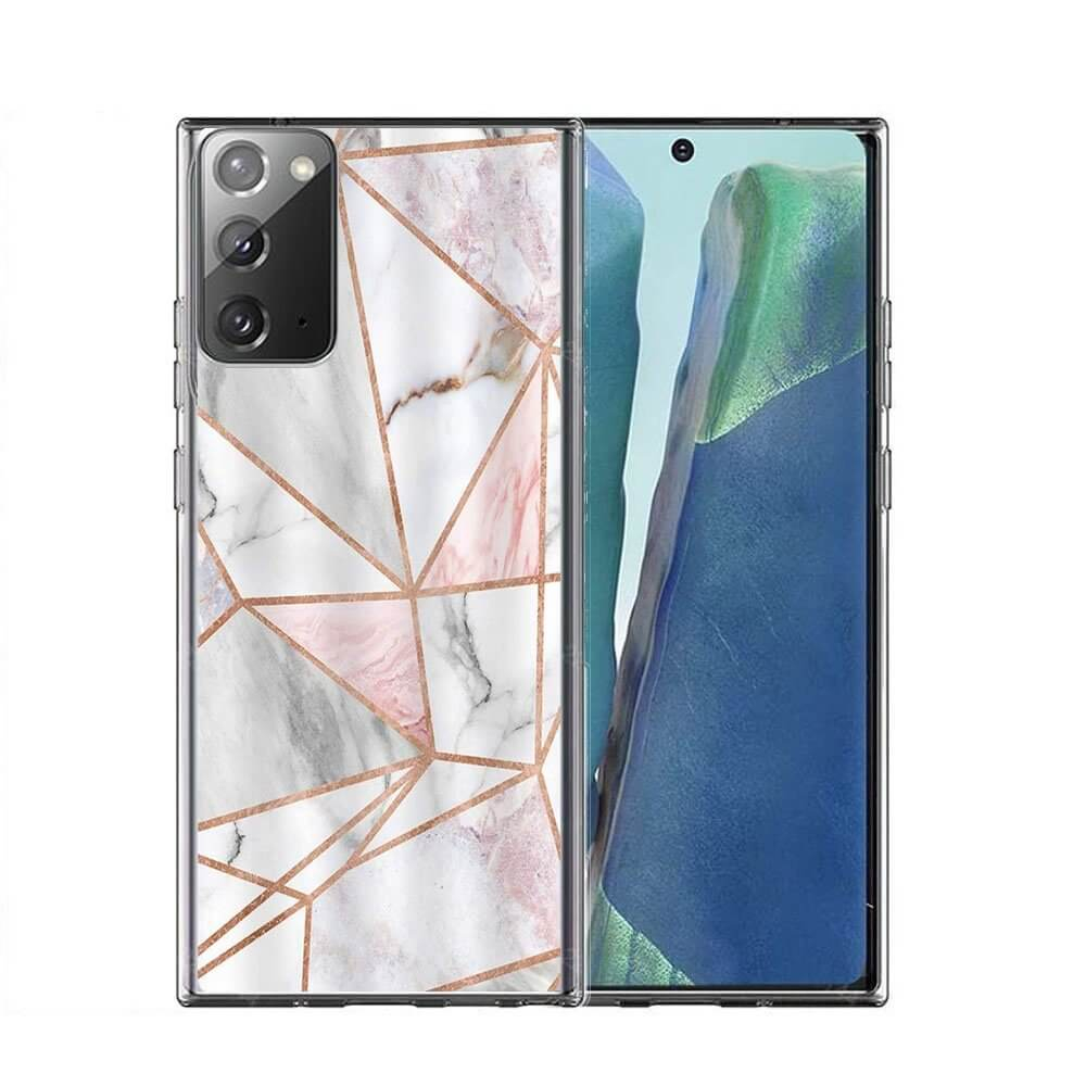 FORCELL MY ART Ochranný kryt Samsung Galaxy Note 20 PINK MARBLE (036)