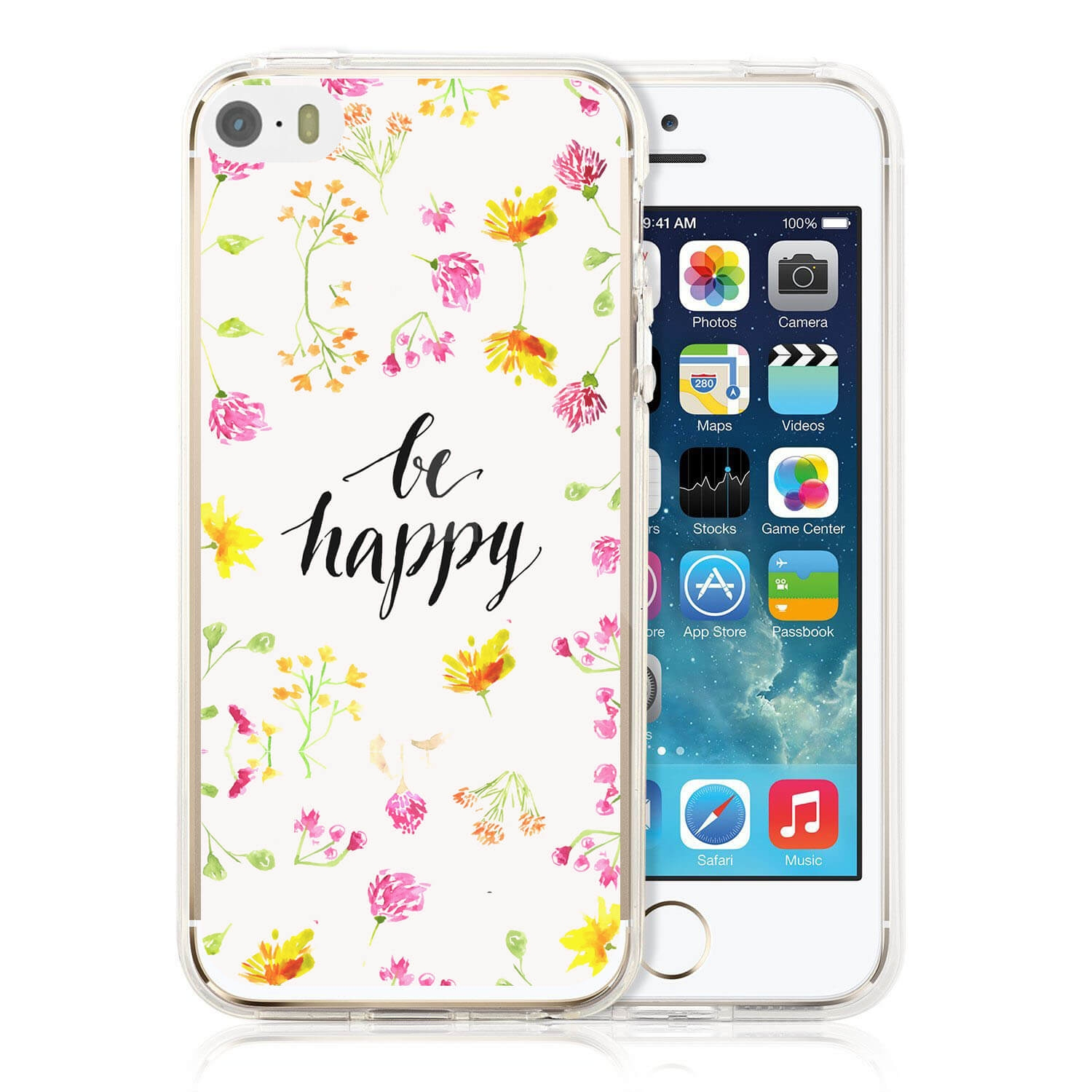 FORCELL MY ART kryt Apple iPhone 5 / 5S / SE BE HAPPY (019)
