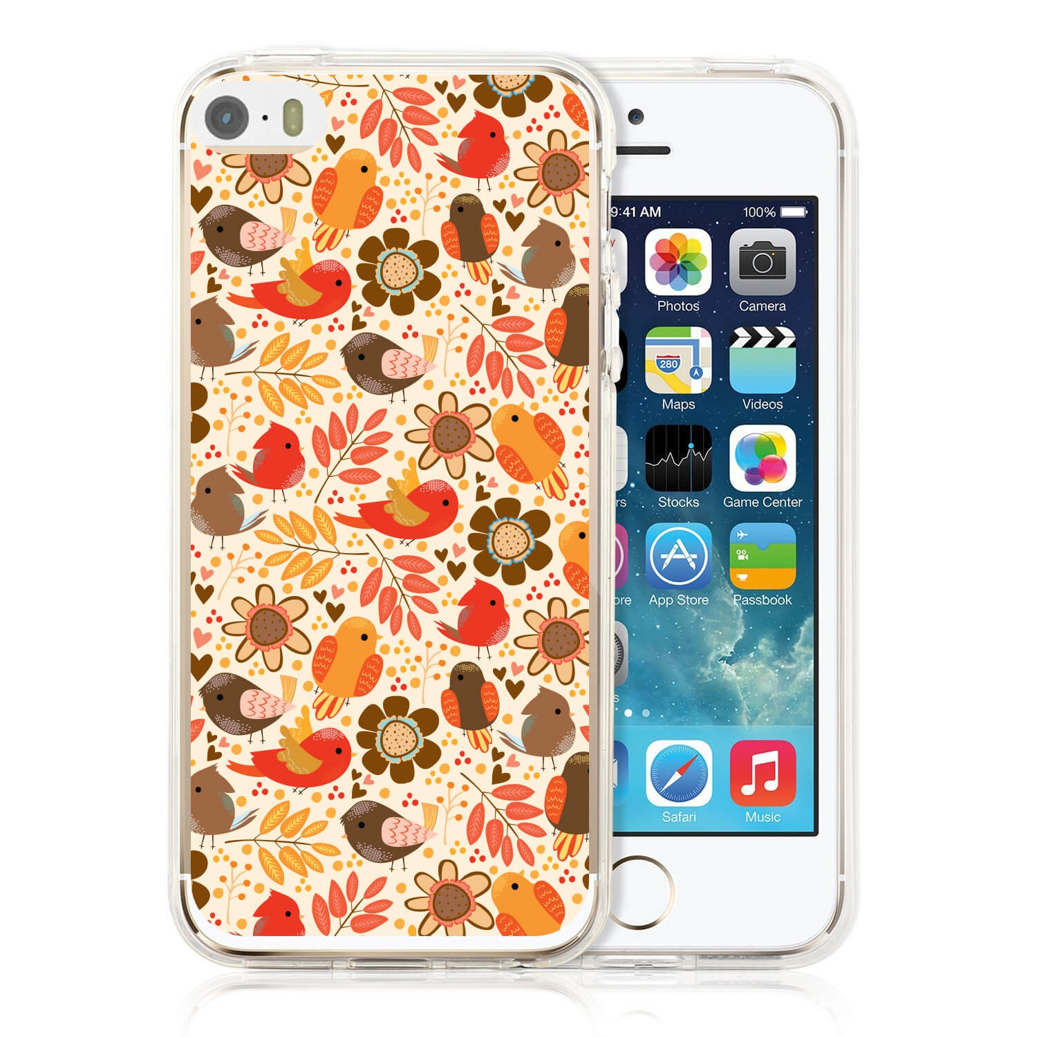 FORCELL MY ART kryt Apple iPhone 5 / 5S / SE BIRDS (004) (004)