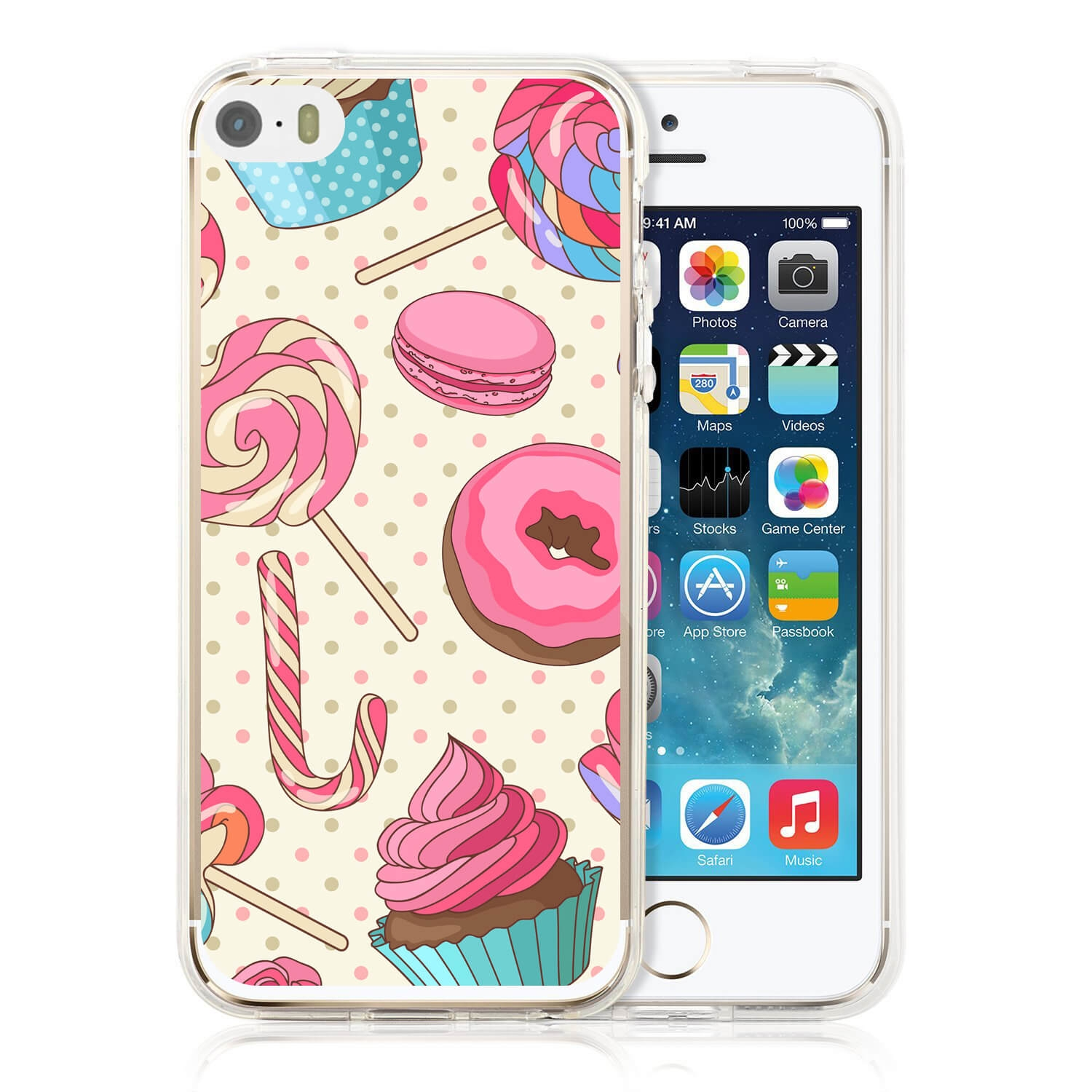 MY ART kryt Apple iPhone 5 / 5S / SE CANDY (030)