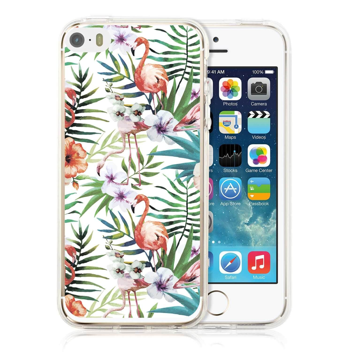 FORCELL MY ART kryt Apple iPhone 5 / 5S / SE FLAMINGOS (009)