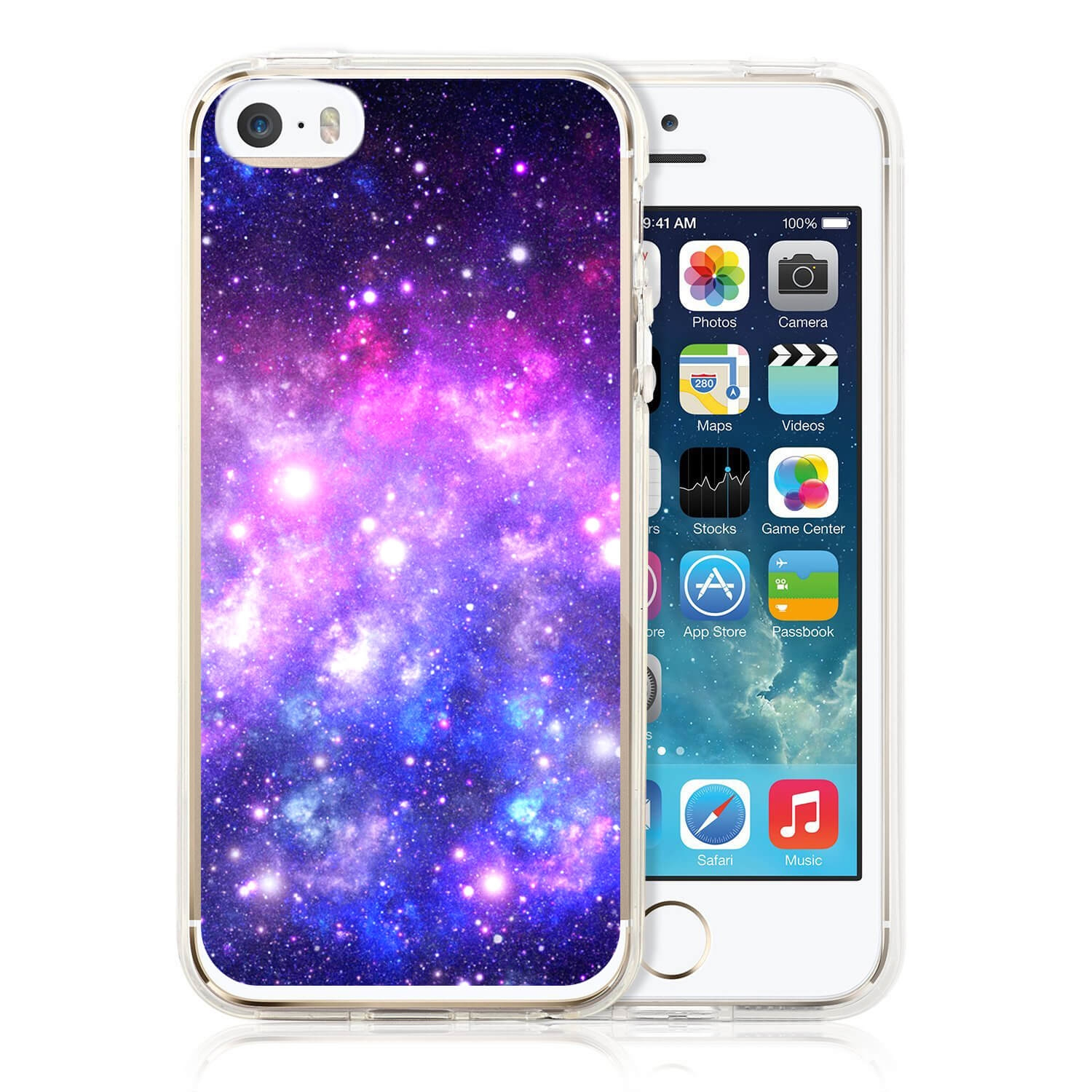FORCELL MY ART kryt Apple iPhone 5 / 5S / SE GALAXY (015)