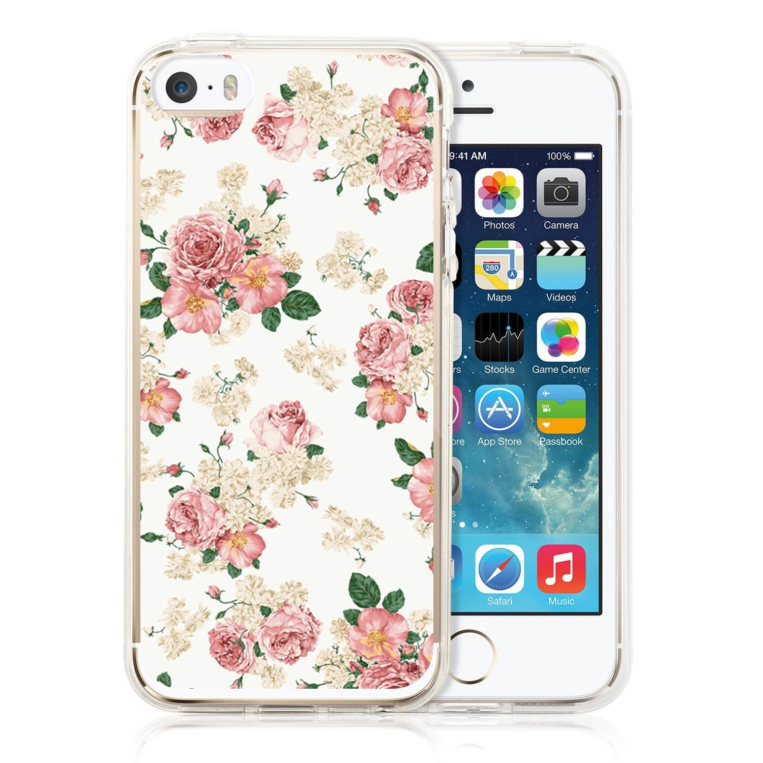 FORCELL MY ART kryt Apple iPhone 5 / 5S / SE PINK ROSES (016)