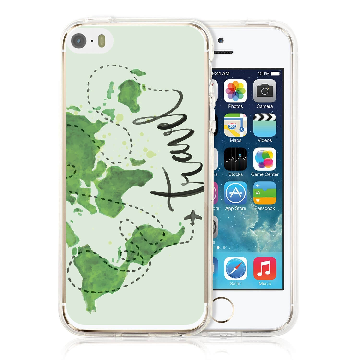 MY ART kryt Apple iPhone 5 / 5S / SE TRAVEL (032)