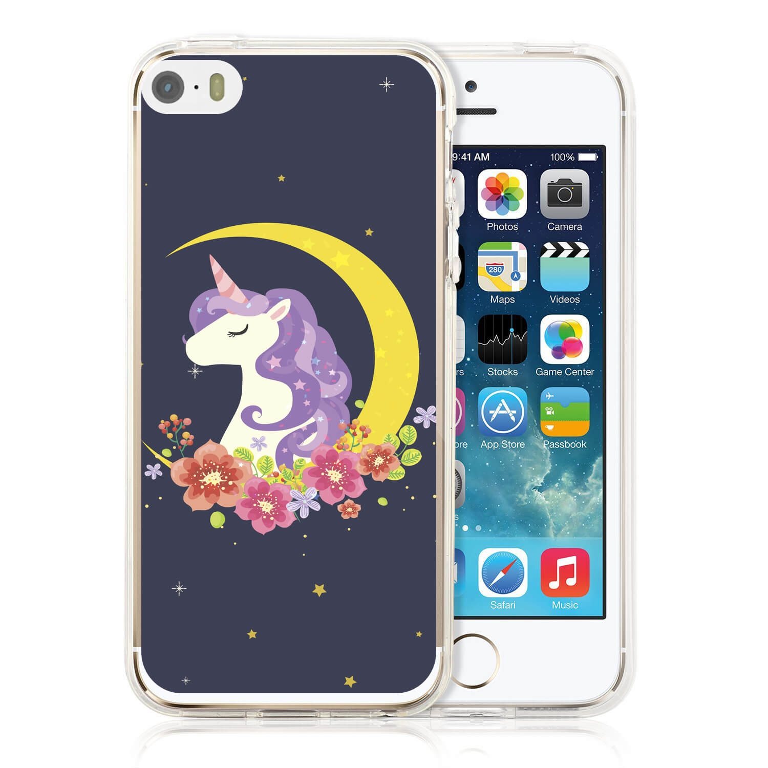 MY ART kryt Apple iPhone 5 / 5S / SE UNICORN (031)
