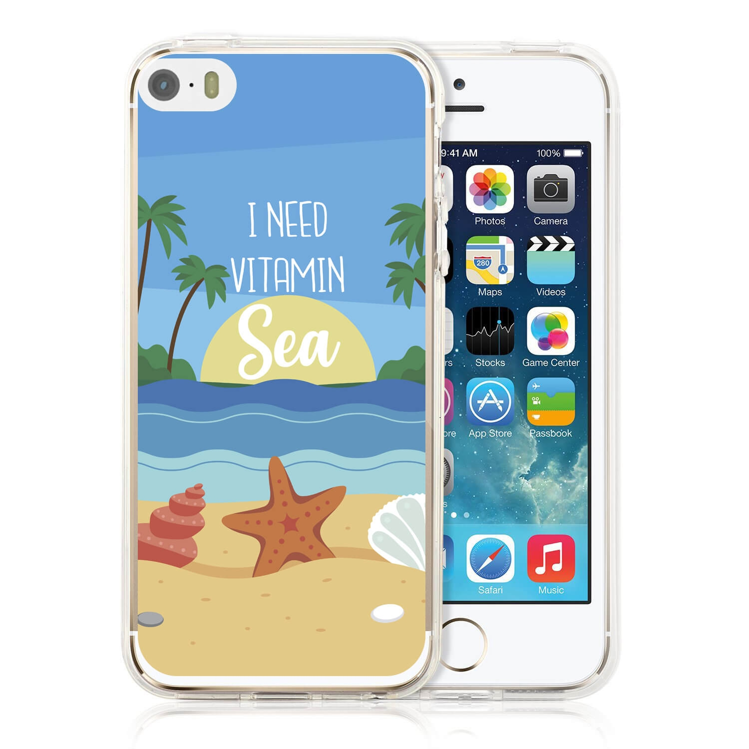 MY ART kryt Apple iPhone 5 / 5S / SE VITAMIN SEA (033)
