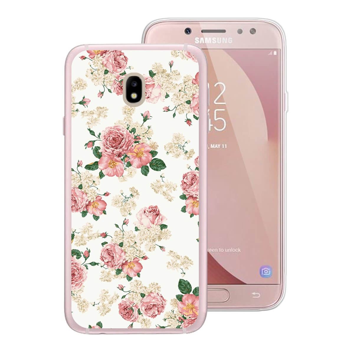 FORCELL MY ART kryt Samsung Galaxy J5 2017 (J530) PINK ROSES (016)