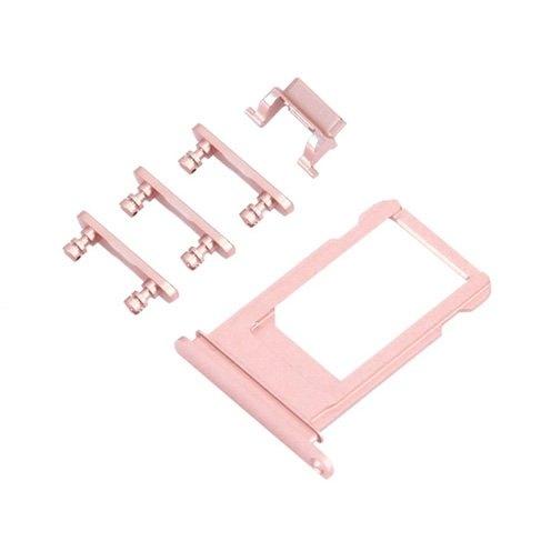 UNBRANDED SIM Slot + bočné tlačidlá - Apple iPhone 6S Plus - rose gold (ružová)