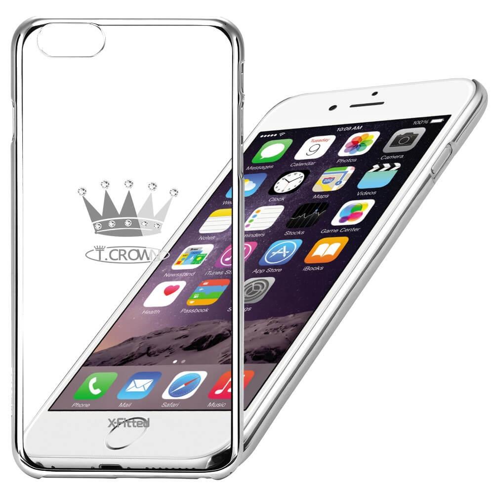 X-FITTED SWAROVSKI obal Apple iPhone 6 / 6S strieborný (0014)
