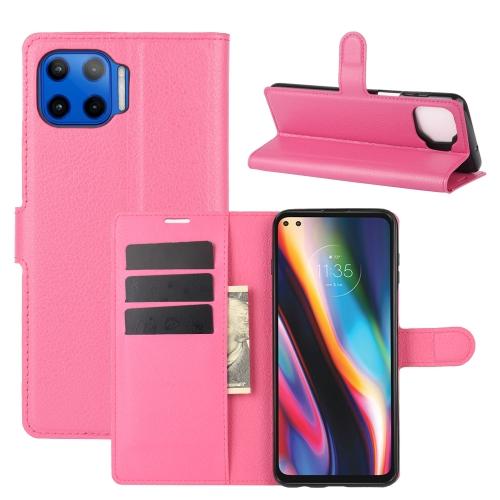 FORCELL LITCHI Peňaženkový kryt Motorola Moto G 5G Plus ružový