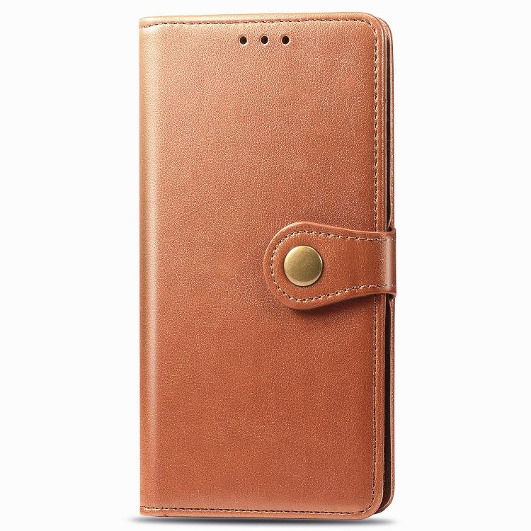 FORCELL LEATHER BUCKLE Peňaženkový obal Realme C11 hnedý
