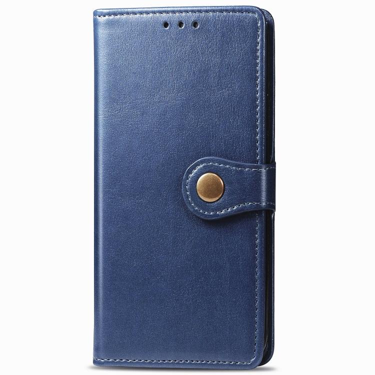 FORCELL LEATHER BUCKLE Peňaženkový obal Realme C11 modrý