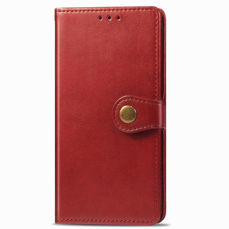 FORCELL LEATHER BUCKLE Peňaženkový obal Realme C11 červený