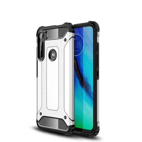 FORCELL TOUGH Ochranný kryt Motorola One Fusion+ strieborný