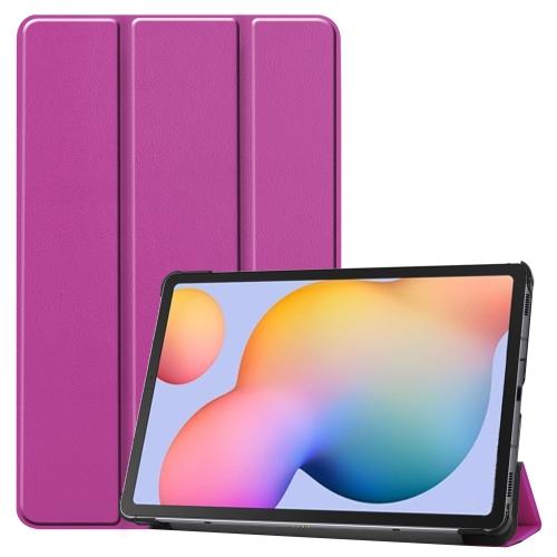 FORCELL LEATHER Zaklápací obal Samsung Galaxy Tab S6 Lite (P610/T615) fialový