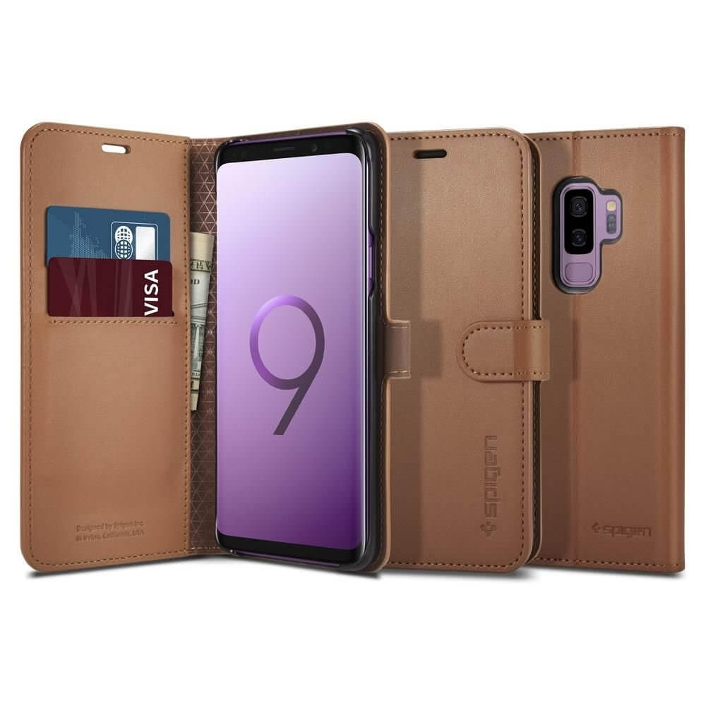 SPIGEN WALLET S Knižkové púzdro Samsung Galaxy S9 Plus hnedé
